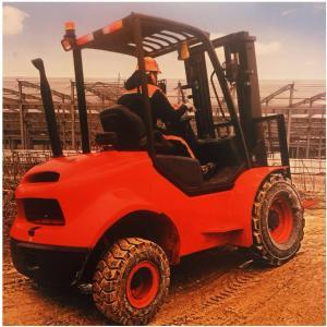 Best FD18 Mini All Rough Terrain Forklift Diesel Engine 1800Kg 1070mm Fork Length wholesale