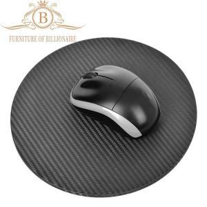 China Round Shape Carbon Fiber Furniture Fashion Mouse Mat Black Color on sale