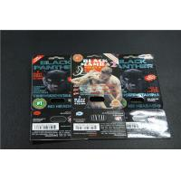 China Custom printed black panther blister card sex pills packaging and black panther box packaging on sale