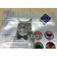 China pet dog food packaging bag with resealable zipper or slider,quad flat bottom, good barrier, Trade assurance dog food blo on sale