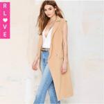 Best Europe women's sleeveless windbreaker jacket and long style female trench coat with pocket wholesale