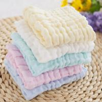 Cheap Anti Bacterial Pure Muslin Face Washcloths Towel Baby Wipes Solid Color for sale