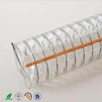 China Transparent PVC coated flexible wire steel hose /discharge water hose/ steel wire reinforced spring pvc hose pipe on sale