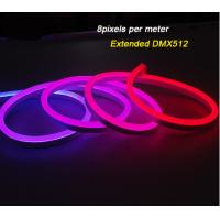 Best IP68 DMX512 Outdoor Flexible LED Strip Lights / RGB Neon Digital Led Light wholesale