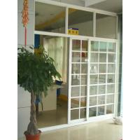 Best 1.4mm profile thickness white, balck gray aluminum sliding glass doors with fly screen wholesale