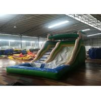China Commercial Inflatable Water Slides , 0.55mm Pvc Bounce House 5-10 People on sale