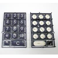 China Telephone Keyboard Double Injection Molding Process Parts Black And White on sale