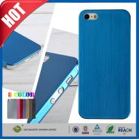 Best Blue Ultra Thin Brush Shockproof Non Slip Cell Phone Carrying Case for Iphone 5 5s wholesale