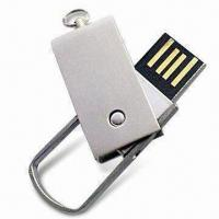 Best Metal USB Flash Drive in Swivel Design, with Rotary Cap, Color Printing or Laser Engraving wholesale