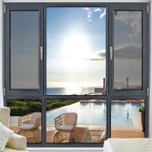 Best Grey Anodized Aluminum Casement Windows 1.2mm - 2.0mm Profile Thickness wholesale