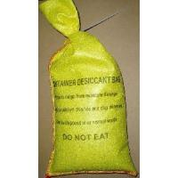 Cheap 2kg Container Desiccant Bag (Clay+CaCl2) With Plastic Tied For Shipping Container (Very Strong Yellow PET Non-Woven Bag) for sale