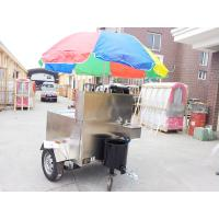 Best Mobile Fryer Food Stainless Steel Hot Dog Cart With Small Wheels wholesale