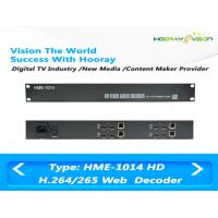 Buy cheap 4 Channel 1U Digital TV Encoder / HD SDI H 264 Encoder Independent IP Out product