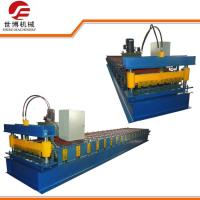 China Double Cylinder Cutting Cut To Length Line IBR Roofing Sheet Roll Forming Machine on sale