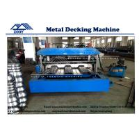Best 22KW Main Power Floor Decking Roll Forming Machine For 0.8-1.6mm Thickness PPGI Sheet wholesale