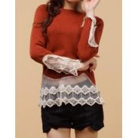China Lady Long Sleeve Knitted Pullover Sweater Fashion Garment (ML1225) on sale