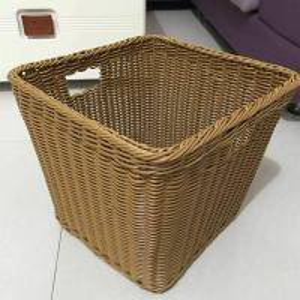 Best PP Plastic Laundry Basket Dirty Clothes Basket Portable Toys Debris Snack Storage Imitation Rattan basket wholesale