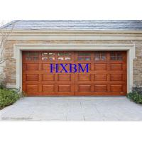 Best Motor Driving Safety Insulated Roller Garage Doors With Wooden Finish wholesale