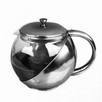 Best Coffee Pot with Strainer Inside, Made of Stainless Steel Outer Shell and Heat-resisting Glass wholesale
