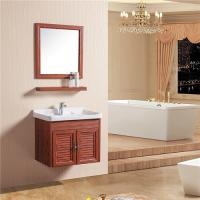 China Double Doors Floating Sink Vanity , Wall Mounted Sink Cabinet With Mirror And Shelf on sale