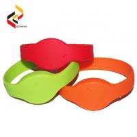 Best OEM RFID Wristband 13.56MHz Ultralight EV1 RFID Silicone bracelet with high quality wholesale