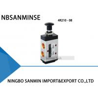 China 3R / 4R Hand Draw Valve Manual Solenoid Valve G 1/8 , 1/4 , 3/8 , 1/2 Control on sale