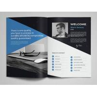 Best Cost Effective Corporate Business Brochure , Printable Graphic Design Pamphlet wholesale