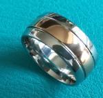 Best 10mm Shiny Center Rose Gold Plating Grooves Dome Cobalt Chrome Wedding Band Ring wholesale