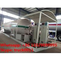 Best best quality skid mounted propane gas filling plant for sale, double electronic scales skid lpg gas station for sale wholesale