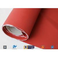Best 580gsm 260℃ Fiberglass Cloth Thermal Insulation Jacket Fabric Silicone Coated wholesale