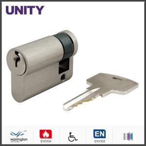 China Single Euro Door Cylinder EN1634 Fire Tested Yale Keyway EN1303 Brush Nickel on sale