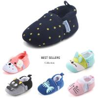 China 10 colors Cotton fabric animal lovely boy girl breathable infant baby shoes cotton on sale