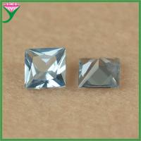 Best online shopping 106# 5*5mm square blue square spinel semiprecious gems wholesale