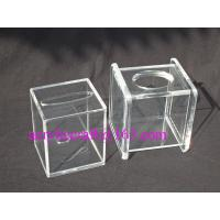Best Transparent Cube Contracted Tissue Paper Storage Box Acrylic Tissue Holder wholesale