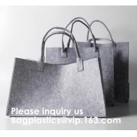 Best Promotional Custom Made Silk Screen Printing Tote Felt Bag, Shopping Bag,Beach Bag with Leather Handle Shopping Women Ba wholesale