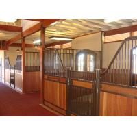 Best Custom European Horse Stalls Panels Low Stall Front Design Adjustable Latch Plate wholesale