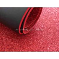 Best Glitter Colored Foam Sheets Black PU Embossed For Die Cut Making , Logo OEM wholesale