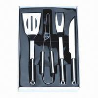 China 4 Pieces BBQ Tool Set, Made of Stainless Steel on sale
