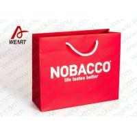 Best Bright Red Color Personalised Paper Shopping Bags For Business Eco - Friendly wholesale