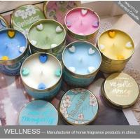 Best Soy Wax Scented Tin Candles , Handmade Non Toxic Long Lasting Scented Candles wholesale