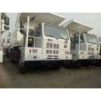 China 6x4 50 Ton Mining Dump Truck With Single Sleeper Cab And Manual 10 Speeds Gear Box on sale