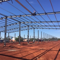 China Galvanized Q345B Z200 EPS Wall Prefab Workshop Buildings on sale