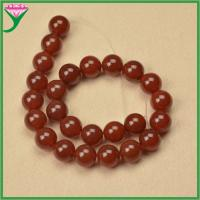 Best Manufacturers wholesale 16mm loose smooth round natural red agate beads wholesale