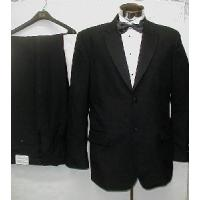 Cheap Mens Black Tuxedo Suit for sale