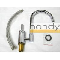 Best Single Hole Chrome Kitchen Sink Water Faucet / High Arc Purity Brass Home Kitchen Tap wholesale