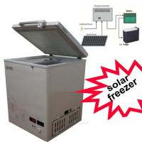 China BD/BC-68DS Solar Freezer 68L Solar Powered Chest Freezer With Basket on sale