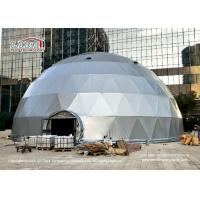 Best 20m Diameter Geodesic Dome Tents With Silver Grey Cover And Glass Door wholesale