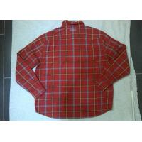 Best Casual Fleece Casual Mens Checked Shirt , Long Sleeve Shirts For Men wholesale
