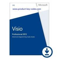 China Visio Professional Microsoft Office 2013 Key Code , 32bit and 64bit OEM FPP Key on sale
