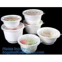 Best Pp Round disposable cheap high quality plastic bowl with lid,disposable package PP new plastic salad food bowl with seal wholesale